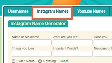 Cómo usar SpinXO para generar un nombre de usuario para Instagram paso 2