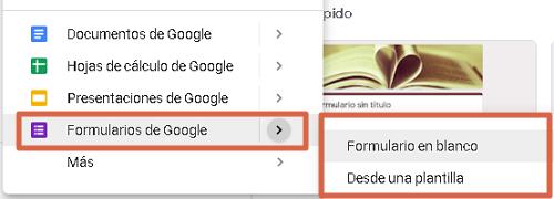 Crear hacer encuesta utilizando Google Forms en Google Drive paso 1