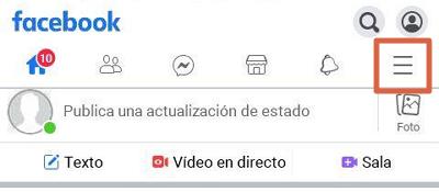 Desbloquear a alguien de Facebook con Facebook Lite paso 1