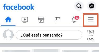 Desbloquear a alguien de Facebook desde la aplicación paso 1