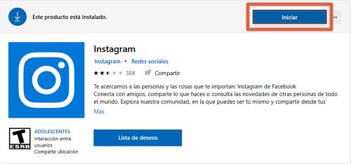 Descargar Instagram para PC gratis desde la tienda de Microsoft paso 3