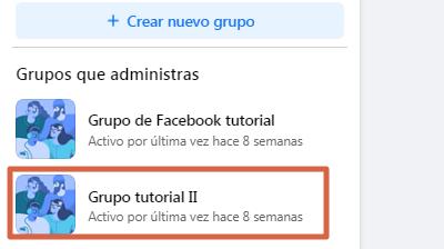 Eliminar un grupo de Facebook creado por mi definitivamente desde el ordenador paso 1