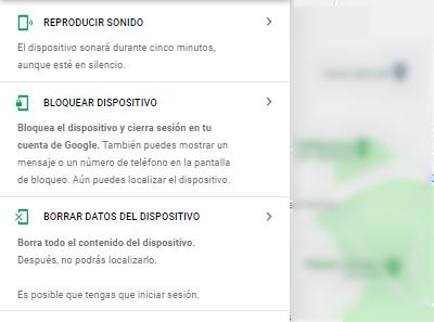 Funciones de la herramienta de Google para rastrear celular robado gratis
