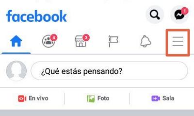 Guardar y descargar todas las fotos de tu perfil de Facebook desde el dispositivo móvil paso 1