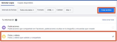 Guardar y descargar todas las fotos de tu perfil de Facebook desde el ordenador paso 5