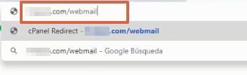 Iniciar sesión en Webmail paso 1