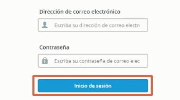 Iniciar sesión en Webmail paso 2