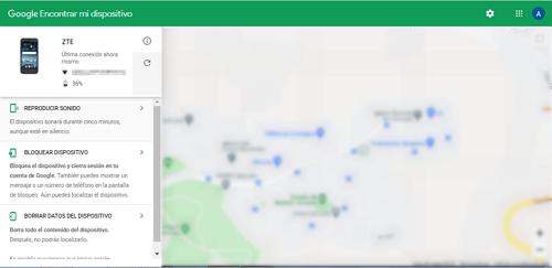 Localizar rastrear celular robado Gmail gratis