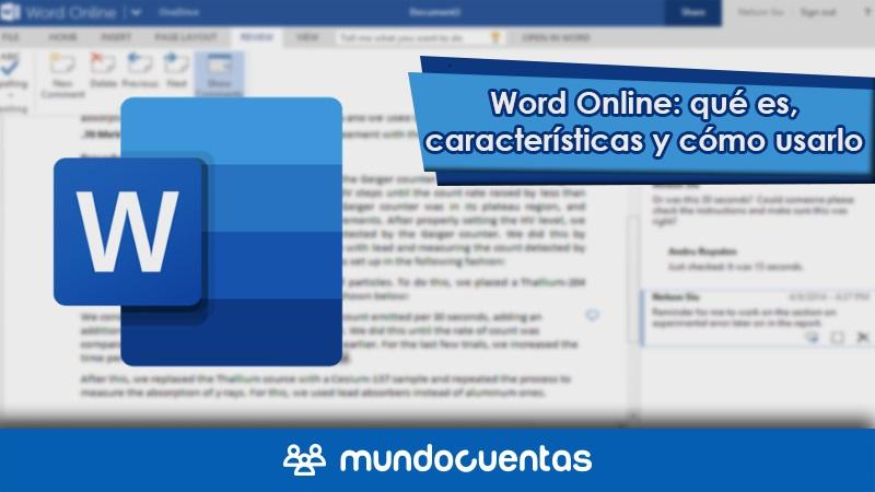 Word Online qué es, características y cómo usarlo