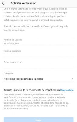 como verificar mi instagram
