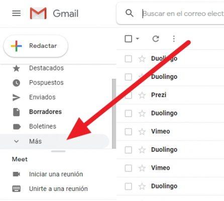 crear carpeta en gmail