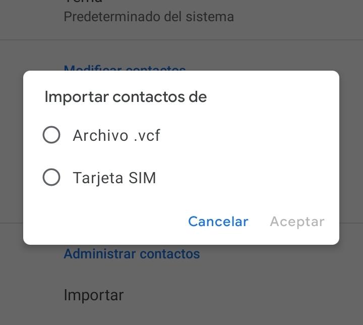 importar contacgos en gmail desde tarjeta sim