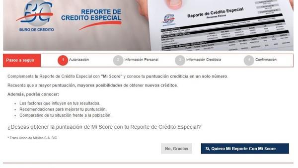 reporte especial del buro de credito
