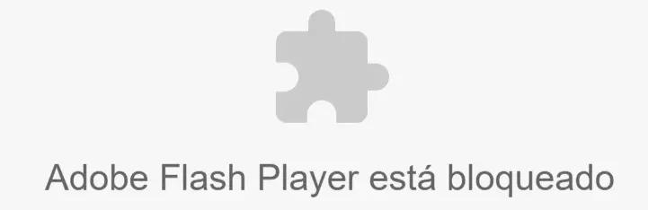 Adobe flash player esta bloqueado