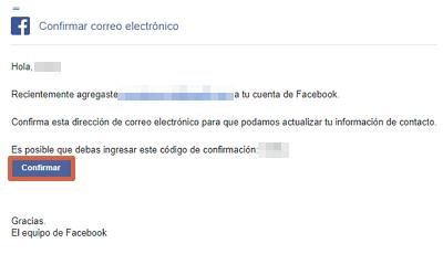 Cómo cambiar el correo electrónico de tu cuenta de Facebook desde el navegador paso 9
