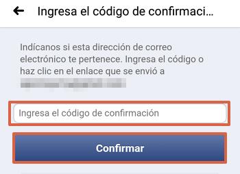 Cómo cambiar el correo electrónico de tu cuenta de Facebook desde la aplicación paso 10