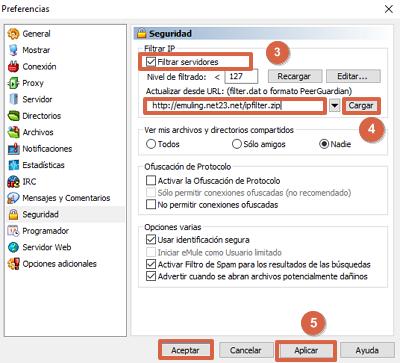 Cómo configurar la seguridad en eMule