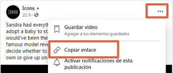 Cómo descargar videos privados de Facebook paso 1
