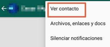 Cómo eliminar contactos de WhatsApp que están registrados en la agenda paso 4