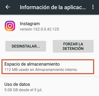 Cómo eliminar la memoria caché para ver las historias de Instagram paso 4