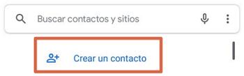 Cómo guardar contactos de la agenda en Gmail individualmente paso 1