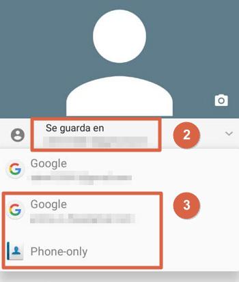 Cómo guardar contactos de la agenda en Gmail individualmente pasos 2 y 3
