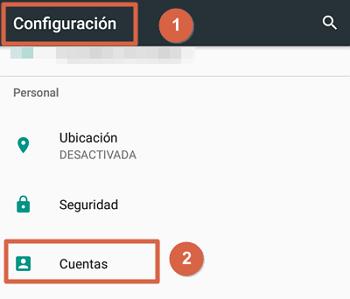 Cómo guardar contactos de la agenda en Gmail pasos 1 y 2