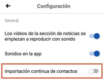 Cómo sincronizar los contactos de tu teléfono con Facebook paso 5