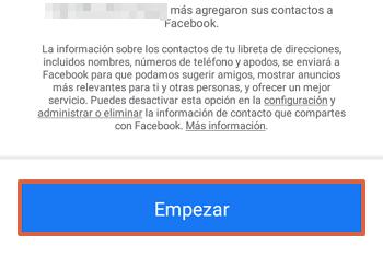 Cómo sincronizar los contactos de tu teléfono con Facebook paso 6