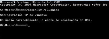 Cómo solucionar error DNS_PROBE_FINISHED_NXDOMAIN en Chrome vaciando caché DNS paso 3