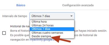 Cómo solucionar error ERR_SSL_PROTOCOL_ERROR en Google Chrome borrando caché SSL y del navegador paso 4