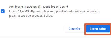 Cómo solucionar error ERR_SSL_PROTOCOL_ERROR en Google Chrome borrando caché SSL y del navegador paso 5