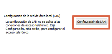 Cómo solucionar error Err_Connection_Timed_Out cambiando configuración LAN paso 3