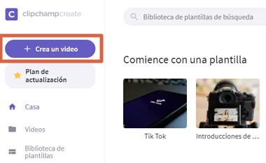Cómo unir videos con Clipchamp paso 2