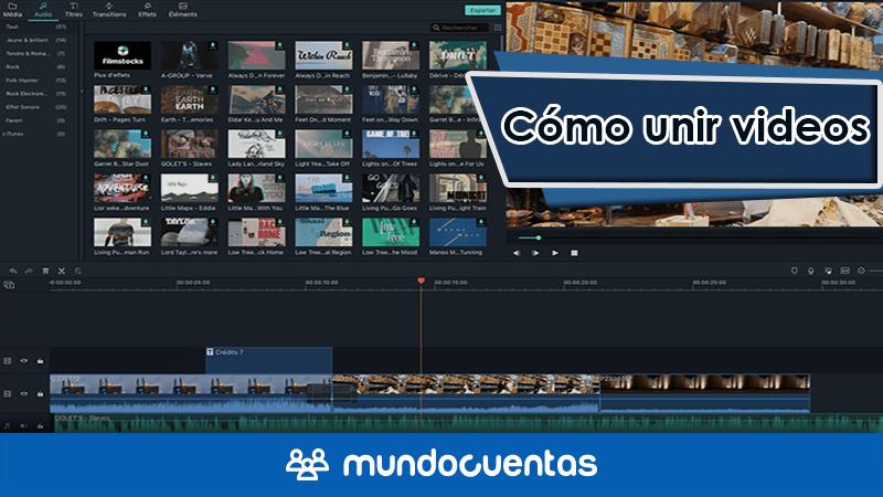 Cómo unir videos programas, aplicaciones y sitios web para combinar videos