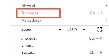 Cómo ver el historial de descargas en Google Chrome desde el ordenador paso 2