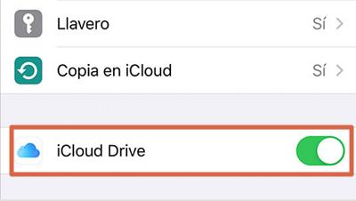 Configurar iCloud Drive en iPhone,iPad o iPod touch paso 3