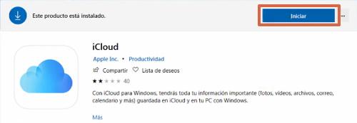 Descargar iCloud Drive desde Microsoft Store paso 3