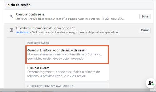 Entrar a Facebook directo y sin contraseña con la configuración paso 6