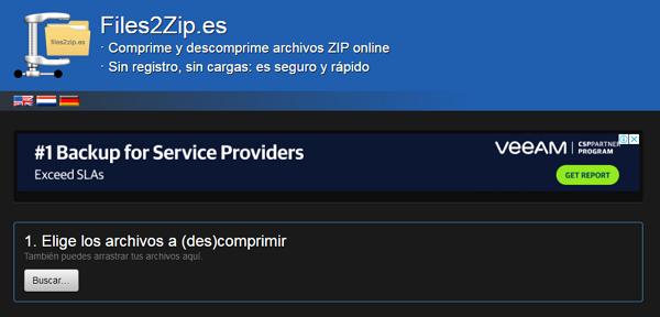 Files2zip