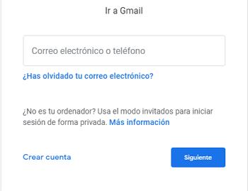 Ingresar en correo electrónico gratis Gmail paso 2