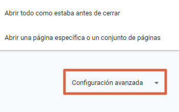 Restablecer Google Chrome para solucionar error err_connection_closed (esta página no esta disponible) paso 3