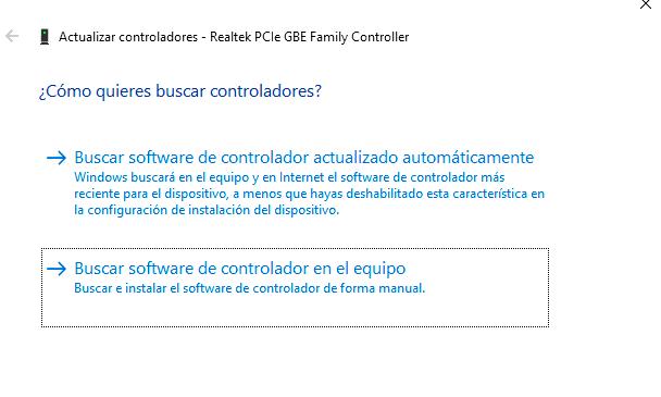actualizar controlador manualmente