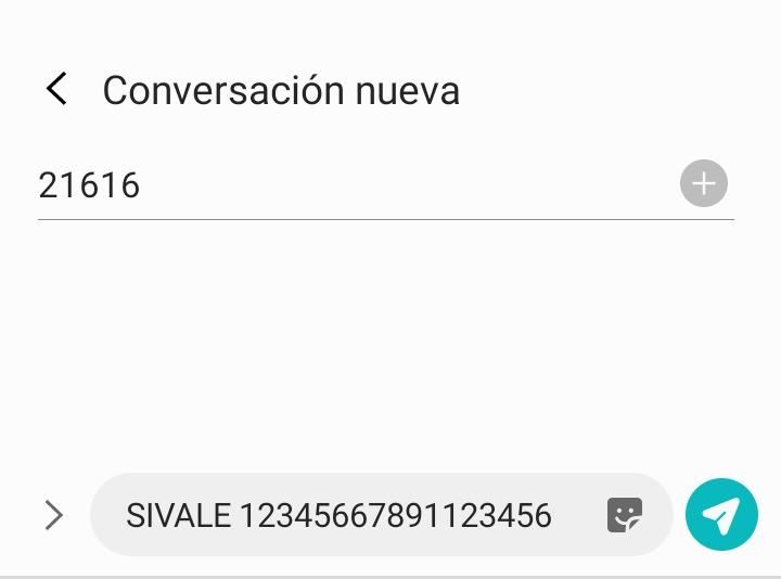 pedir saldo por sms sivale