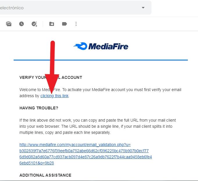 verificar cuenta de mediafire