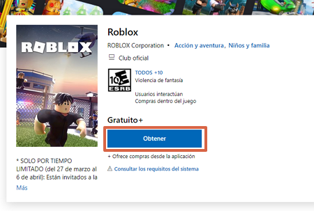 Cómo descargar Roblox gratis desde una computadora con Sistema Windows paso 1
