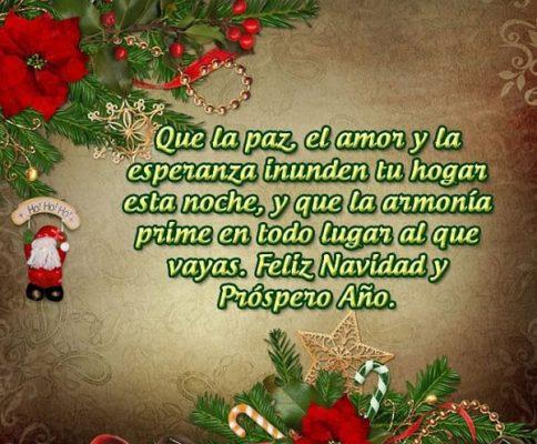 Deseo de amor y paz para navidad
