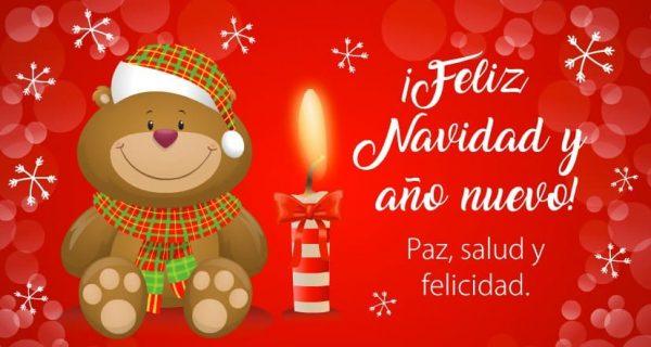 Deseo de feliz navidad y año nuevo
