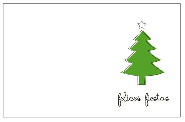 Tarjeta de Navidad para imprimir