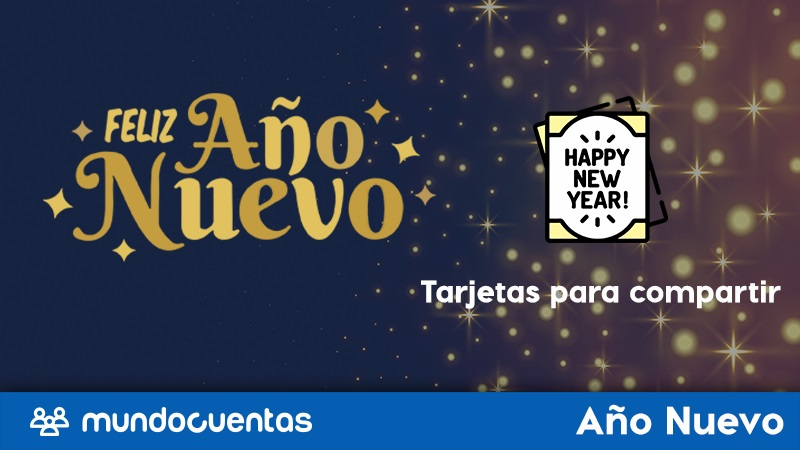 Tarjetas de Año Nuevo las mejores ideas de postales de fin de año para compartir..